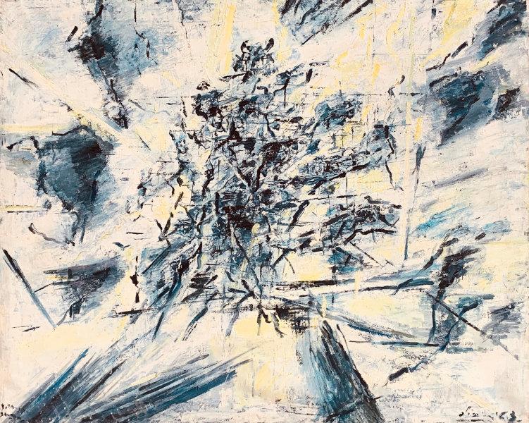 Claudio Olivieri, 1963, ST, olio su tela, 120x150cm