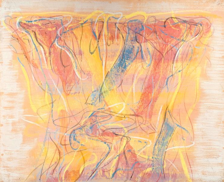 Claudio Olivieri, 1969, ST, tecnica mista su carta intelata, 148x184cm