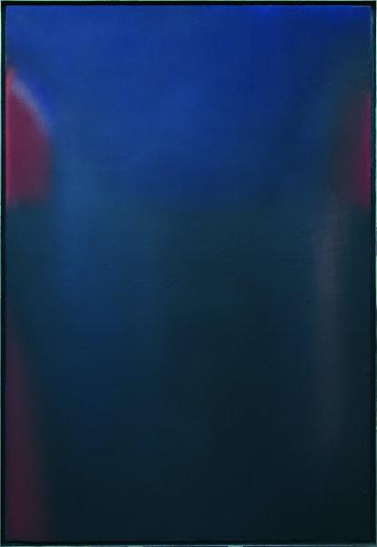 Claudio Olivieri, 1972, Permanenza Blu, olio su tela, 250x170cm
