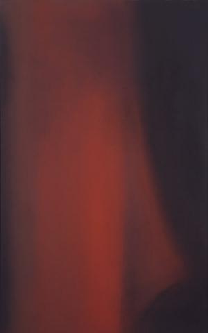 Claudio Olivieri, 1973, Rosso Lungo, olio su tela, 250x150cm