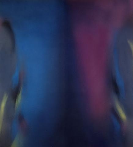Claudio Olivieri, 1984, Metempsicosi, olio su tela, 220x200cm